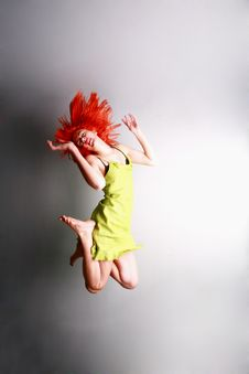 Free Jump For Joy..... Stock Photos - 4852703