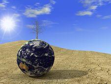 Free Desert Globe Royalty Free Stock Images - 4853579