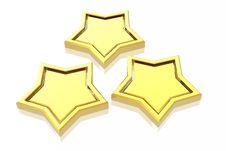 Free 3d Stars Stock Photography - 4854522