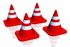 Free 3d Traffic Cone Royalty Free Stock Photos - 4854528