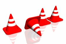 Free 3d Traffic Cone Royalty Free Stock Image - 4854546