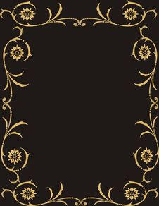 Free Floral Frame Royalty Free Stock Photos - 4854548