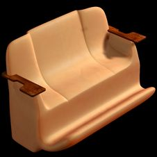 Free Sofa On A Black Background. Royalty Free Stock Photography - 4854867