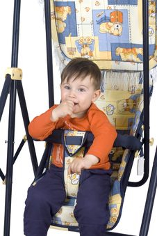Free Smiling Boy On Swing Royalty Free Stock Images - 4854919