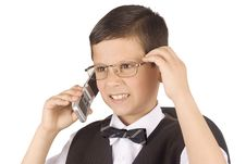 Free Young Businessman Talking To Mobile Phone Royalty Free Stock Images - 4854939
