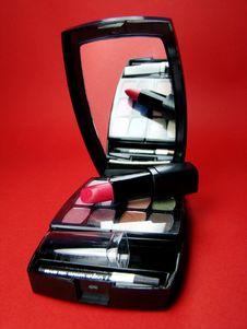 Free Lipstick Over Makeup Kit Stock Image - 4855171