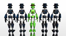 Free Robot Group Royalty Free Stock Photos - 4855438