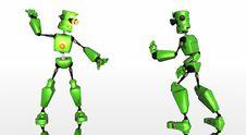 Robots Fighting Royalty Free Stock Photo