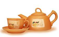 Free Gift Tea Service Stock Image - 4856651