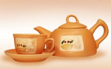 Free Gift Tea Service Stock Images - 4856654