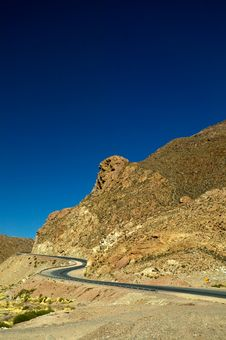 Free Serpentine Road In The Andes Stock Image - 4857111