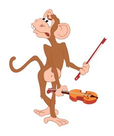 Free Vexed_monkey_with_violin Stock Images - 4857144