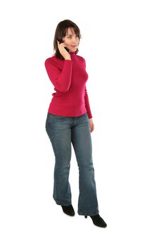 Young Woman With Cellphone Posing Royalty Free Stock Images
