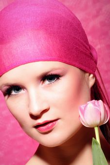 Free Beauty Portrait Of A Woman In Pink Stock Photos - 4857603
