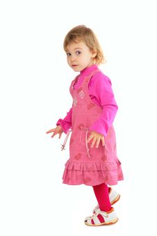 Free Little Girl In Pink Dress Royalty Free Stock Photography - 4857687