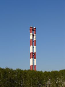 Free Chimneys Of Thermal Power Station Stock Photos - 4858133