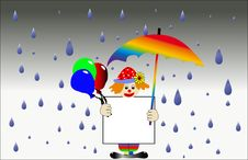 Clown In The Rain Stock Photos