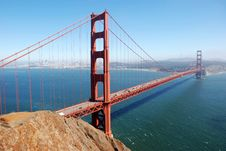 Free Golden Gate Bridge Glows In The Day Royalty Free Stock Image - 4858466