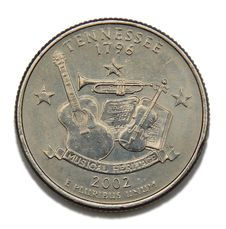 Free Tennessee US Quarter Dollar Royalty Free Stock Photos - 4858998