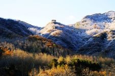 The Great Wall In Snow Stock Images