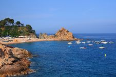 Free Tossa De Mar Beach Stock Images - 4859104
