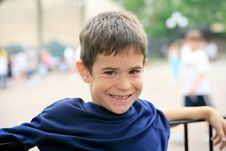 Free Young Boy Smiling Royalty Free Stock Photography - 4859187