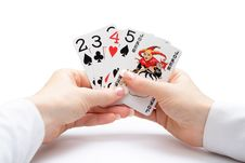 Free Playing Cards - Poker Straight With Joker Stock Images - 4859904