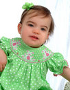 Free Baby Girl In Green Stock Photography - 4864182