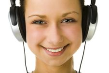 Free Girl With Headphones Royalty Free Stock Image - 4860906