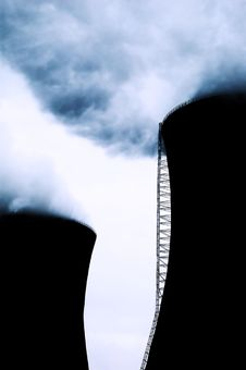 Free Chimneys Of Power Station Stock Image - 4861521