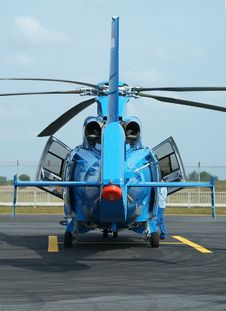 Free Rear View Of Helicopter Stock Image - 4861541