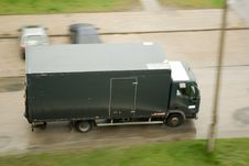 Free Drive Lorry During Rain Royalty Free Stock Photography - 4861967