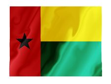 Free Guinea Bissau Fluttering Royalty Free Stock Photo - 4862505