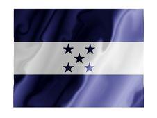 Free Honduras Fluttering Royalty Free Stock Photo - 4862535