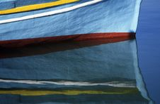 Reflection Of A Boat Royalty Free Stock Images