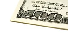 Free One Hundred Dollar Bills Stock Photography - 4863892