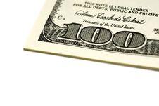 One Hundred Dollar Bills Stock Photography