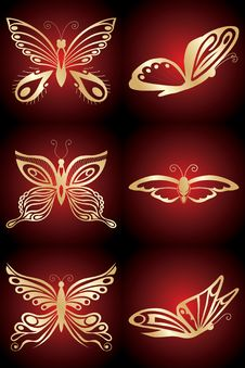 Free Golden Butterfly Royalty Free Stock Photography - 4864277