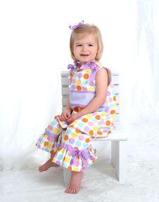 Free Little Girl In Polka Dot Dress Stock Photos - 4864613