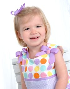 Free Closeup Of Girl In Polka Dots Royalty Free Stock Photo - 4864645