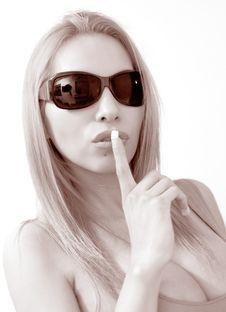 Free Sshh Woman Stock Image - 4865171