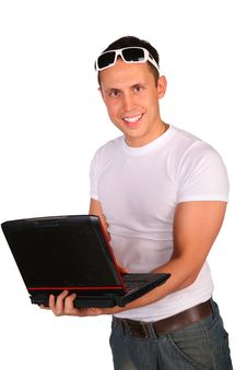 Free Man With Notebook Stock Photos - 4865173