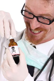 Free Doctor With Poison Bottle Stock Images - 4865364