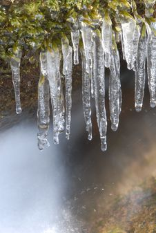 Free River Icicles Stock Photography - 4865602