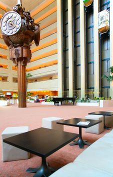 Free Clock Into Trade Center Royalty Free Stock Photos - 4865608