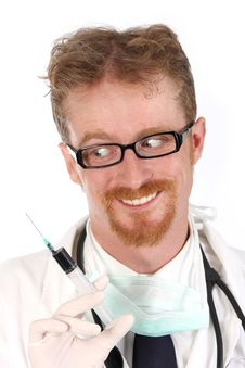Free Doctor With Injection Stock Photo - 4865670