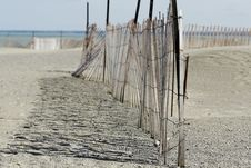 Free Beach Fence Royalty Free Stock Photography - 4865697
