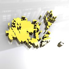 3d Golden Map Of Aaland Stock Image