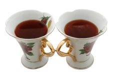 Two Old China Teacups. Stock Photography