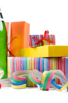 Free Colored Gift Boxes Stock Images - 4866914